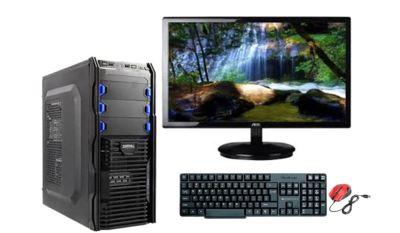 assembled desktop pc core