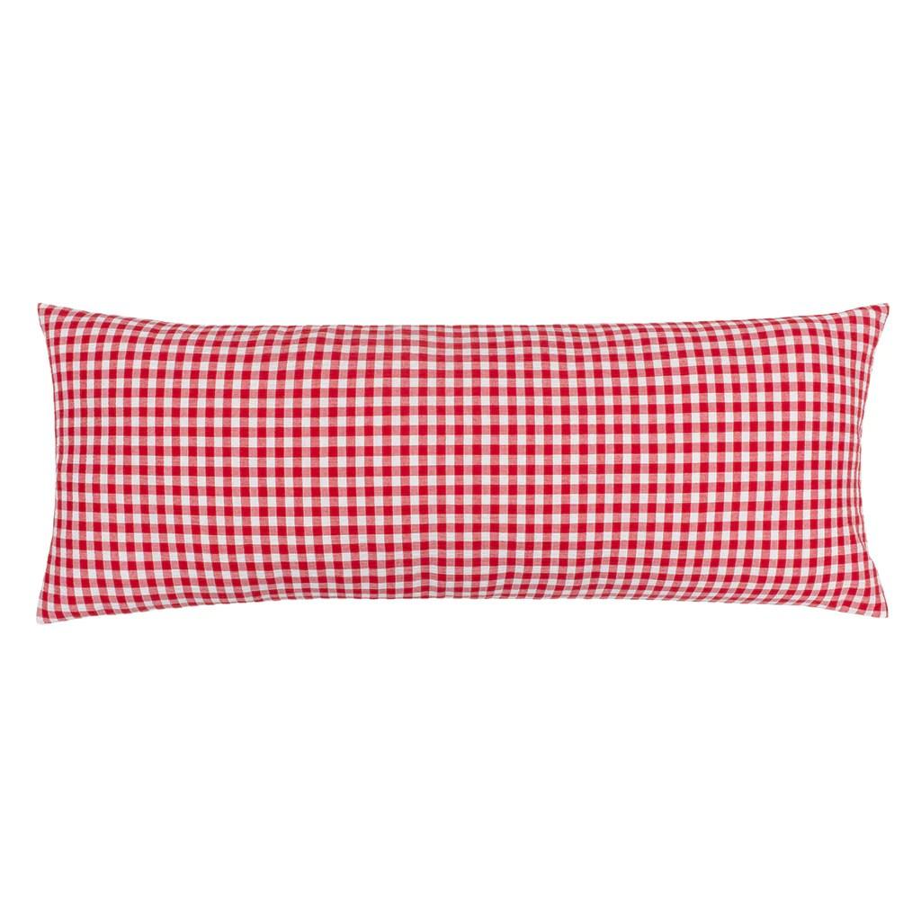 the red gingham extra long lumbar throw pillow