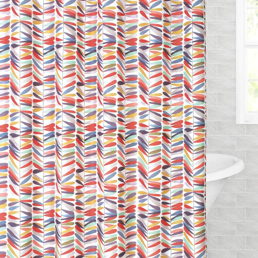 the retro terrazzo shower curtain