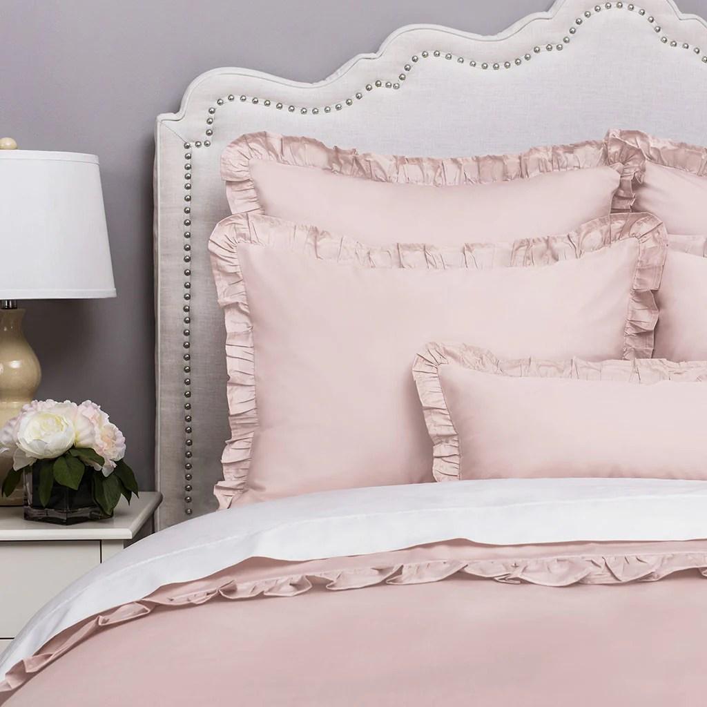 Blush Pink Ruffle Bedding