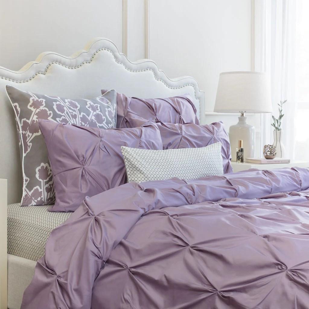 Light Purple Duvet Cover Valencia Lilac Pintuck