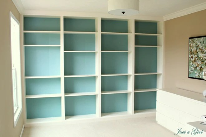 Built In Billy Bookcases Another Affordable Ikea