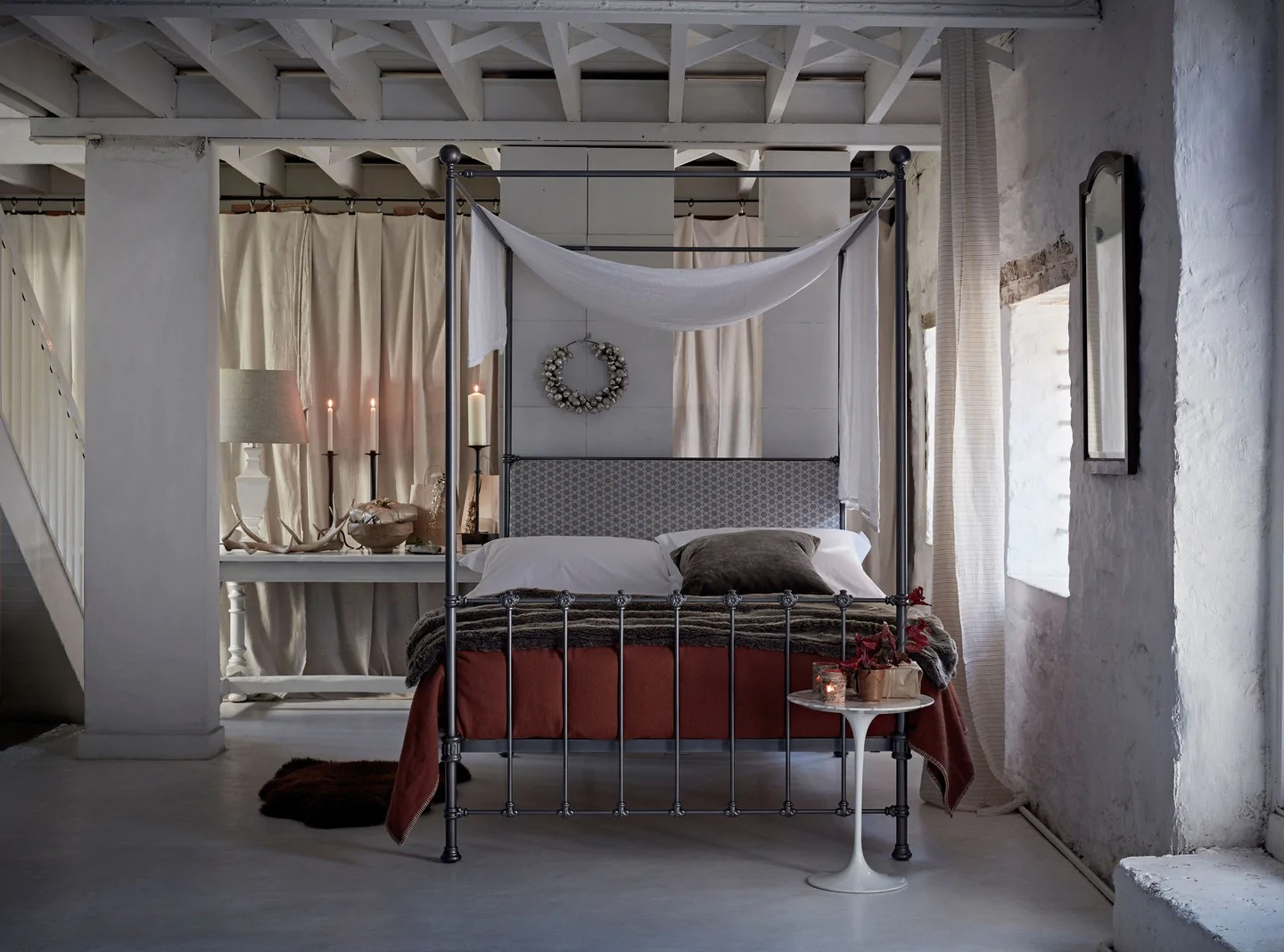 How To Dress A Metal Four Poster Bed The Cornish Bed Company Uk