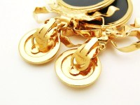 Authentic vintage Chanel earrings CC mirror COCO medal ...