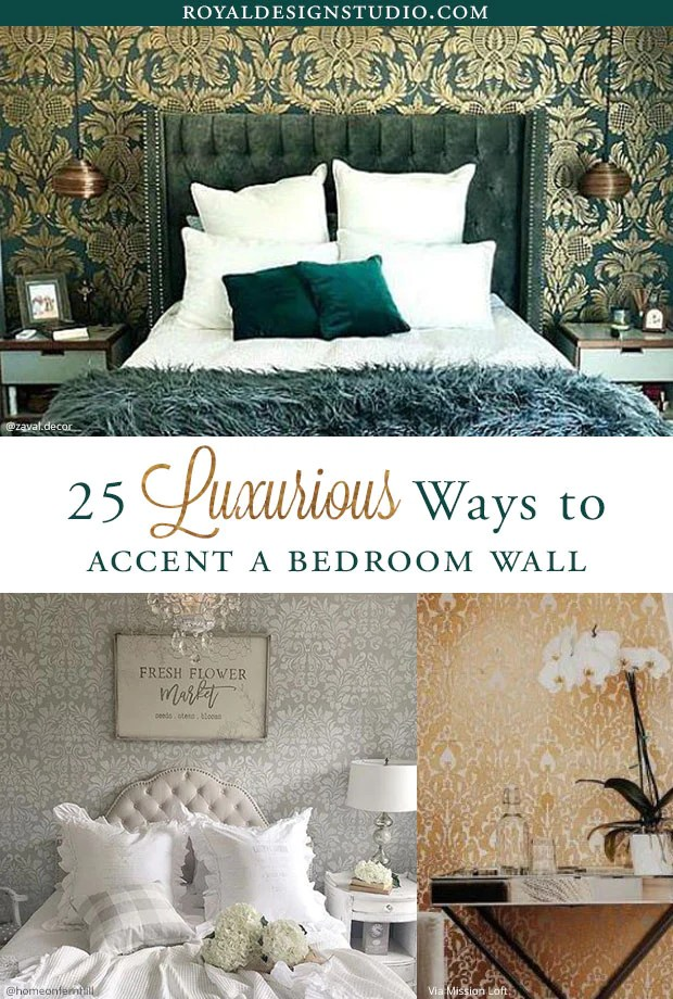 25 Luxurious Bedroom Feature Wall Stencils Diy Painted Accent Walls Royal Design Studio Stencils