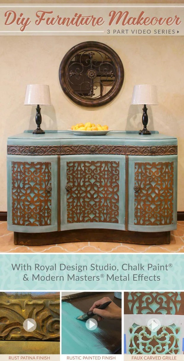 Diy Furniture Makeover Tutorial Distressed Stencils