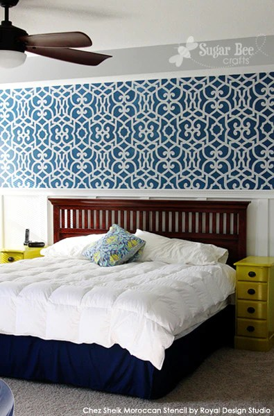 Stencil Inspiration for Accent and Feature Walls  Royal
