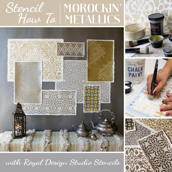 African Animal Wallpaper Border How To Stencil Moroccan Stencils In Metallics For Amazing