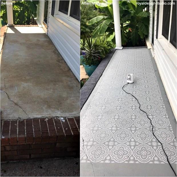 easy diy patio floor stencil ideas