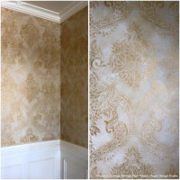 Gold Wallpaper Wall Stencils - DIY Ideas for Metallic Home ...