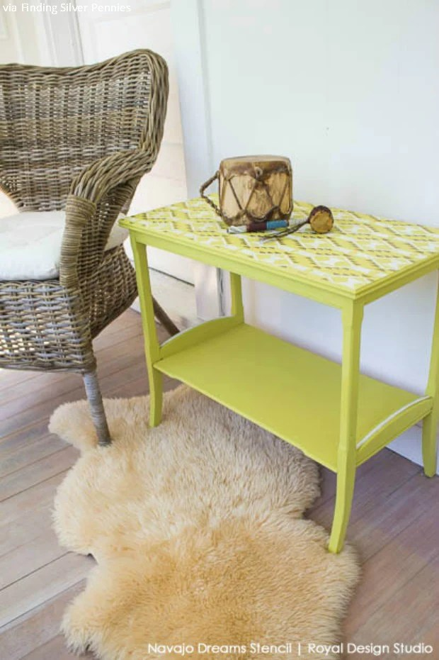5 Chalk Paint  Furniture Stencils Ideas for DIY Decor