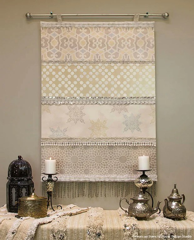 Stencil How To Diy Moroccan Wedding Blanket For A Winter