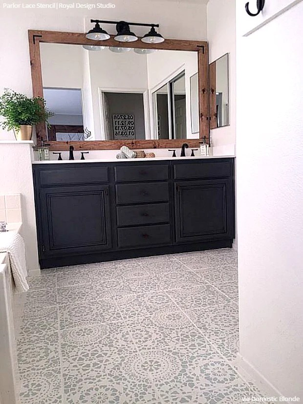 tips for painting bathroom tile with