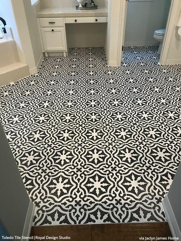 floor tile stencils in american