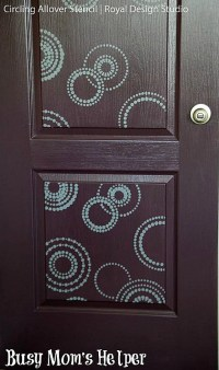 Paint Your Door with Stencil Designs - DIY Home Decorating ...