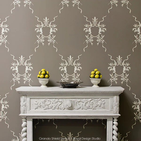 Stencil An Accent Wall Old World Is New Again Royal
