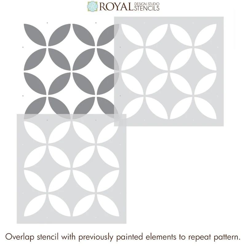 new endless circles tile stencil