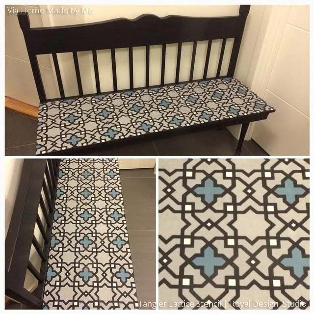 Moroccan Furniture Stencils  Small Tangier Lattice