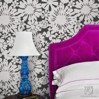 Modern Floral Wall Stencils