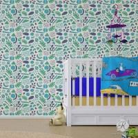 Modern Geometric Shapes Wall Stencils for DIY Nursery Kids