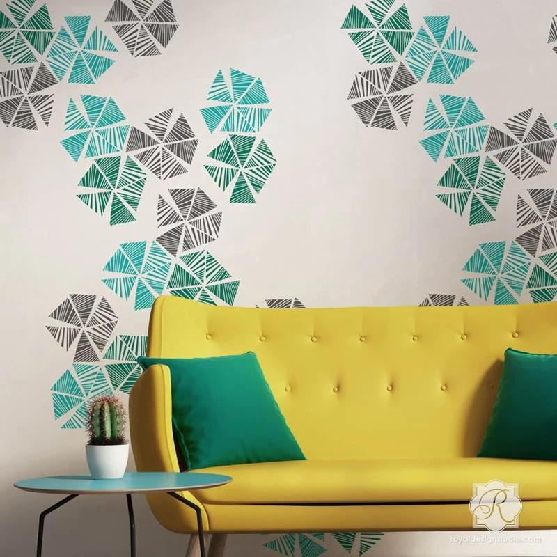 pinwheel wall art stencil royal design studio stencils