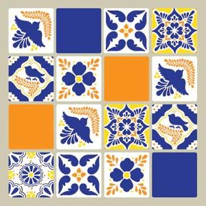 talavera tiles wall furniture stencils