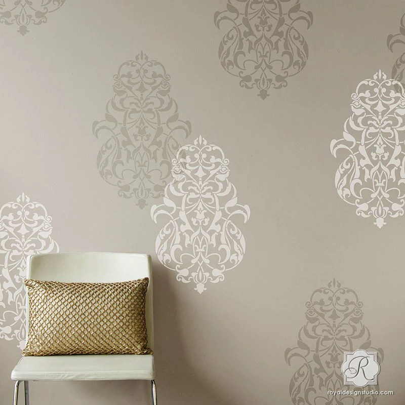 Turkish Ornament Wall Art Stencils For Painting Large