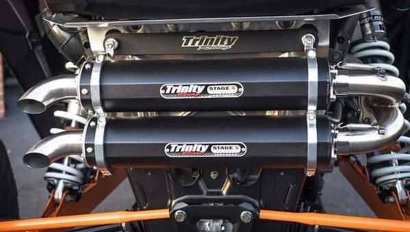 trinity racing 2016 2020 rzr xp turbo turbo s full dual exhaust system