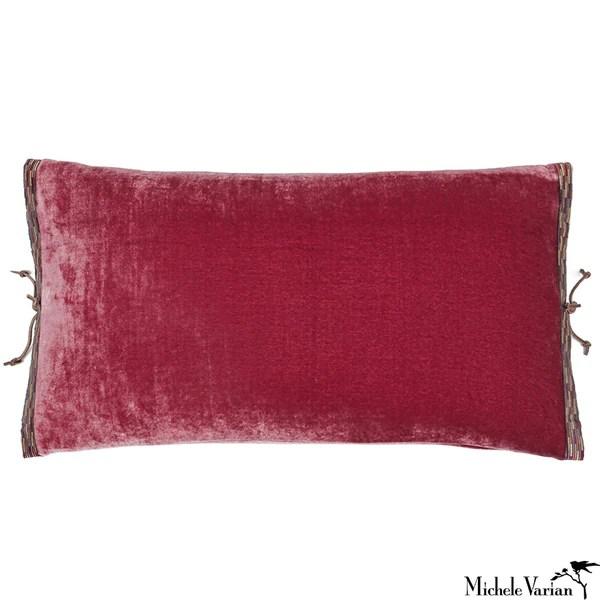 Silk Velvet Pillow Raspberry 12x22  Michele Varian Shop