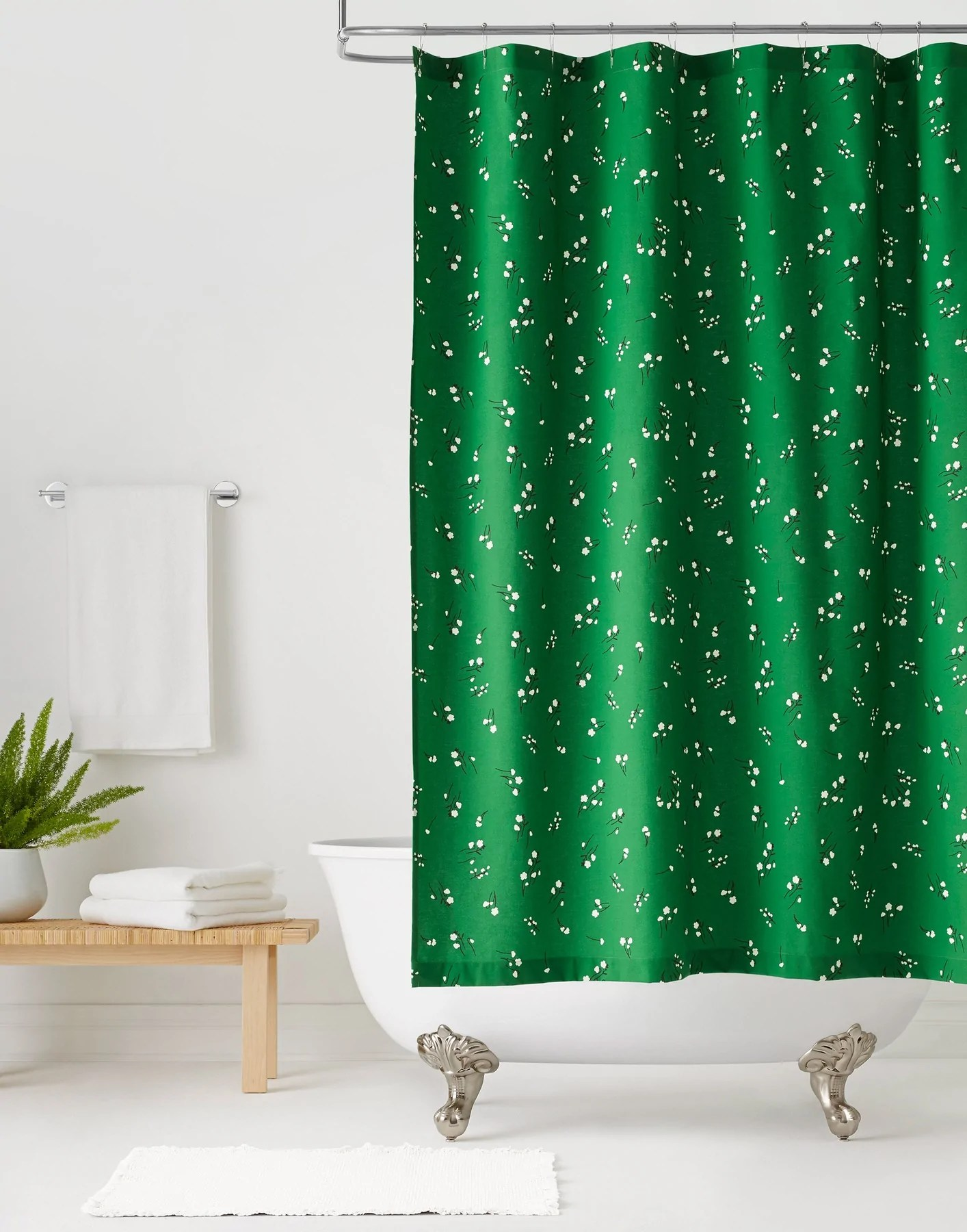 wildflower shower curtain hygge west