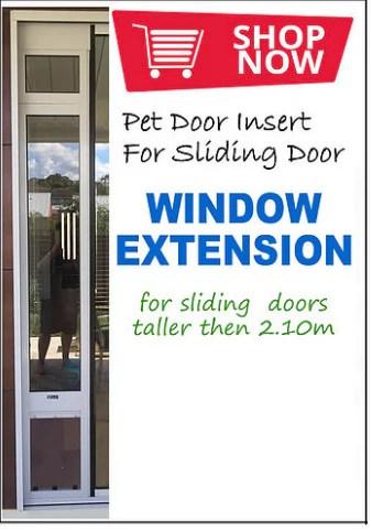 window extension custom height pet door