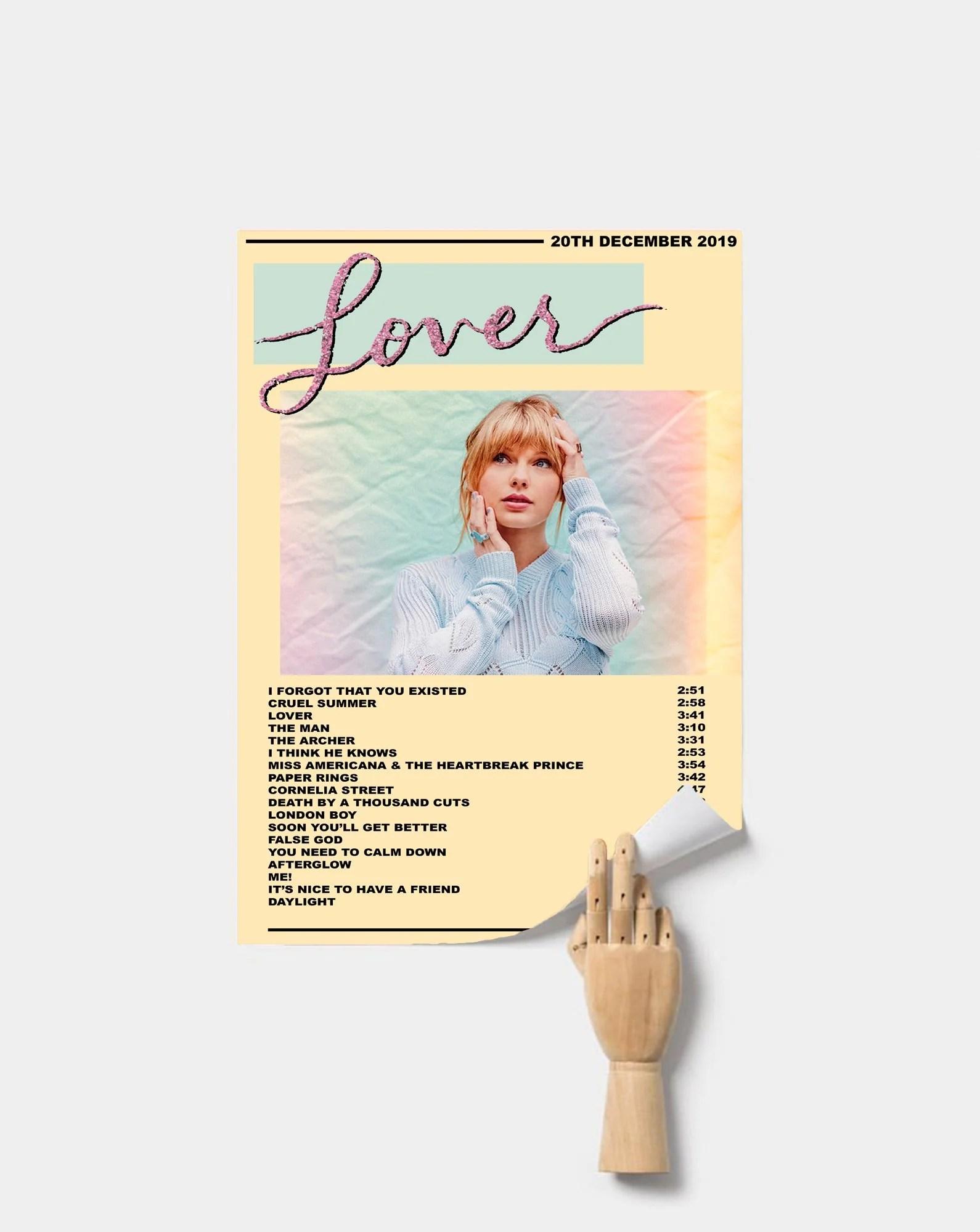 taylor swift lover premium music poster