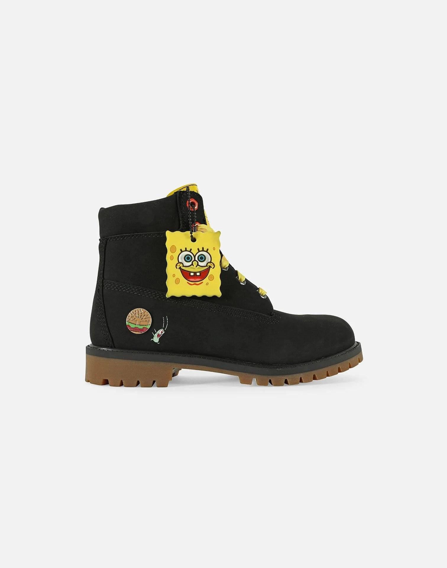 Spongebob Timberlands : spongebob, timberlands, SPONGEBOB, SQUAREPANTS, PREMIUM, BOOTS, GRADE-SCHOOL