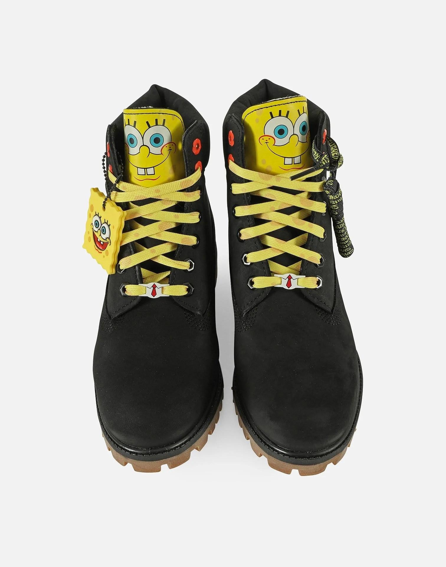 Spongebob Timberlands : spongebob, timberlands, SPONGEBOB, SQUAREPANTS, PREMIUM, BOOTS