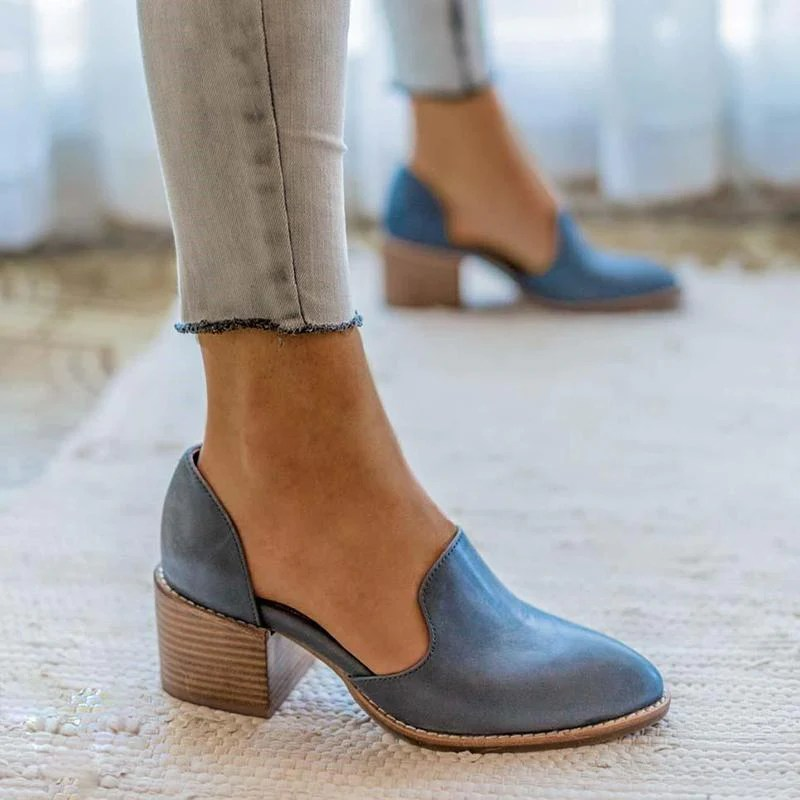Womens Casual Leather Slip On Shoes