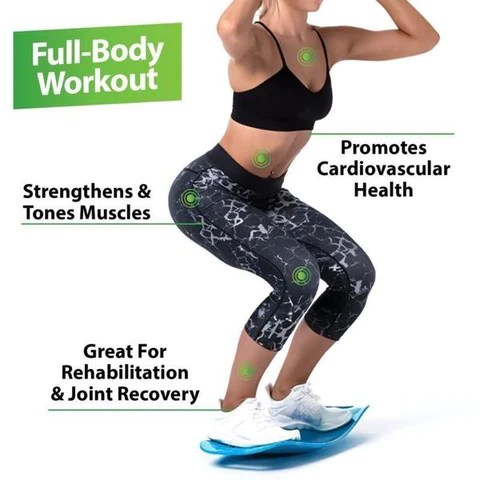 workout out with exercise board