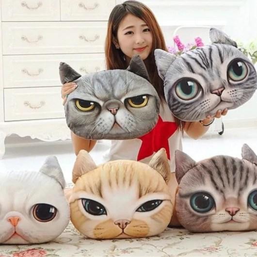 plush 3d pillow cute animals moon
