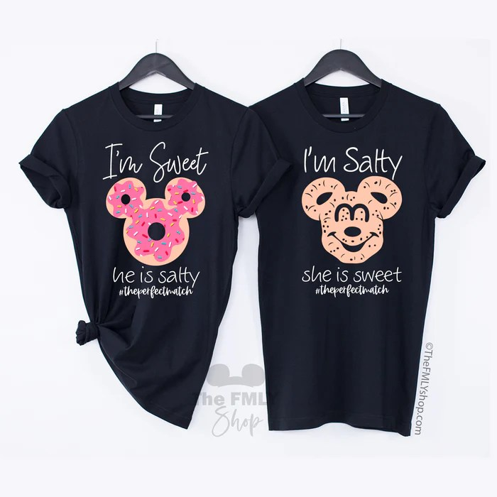 Sweet And Salty Disney Matching Shirts The Fmly Shop