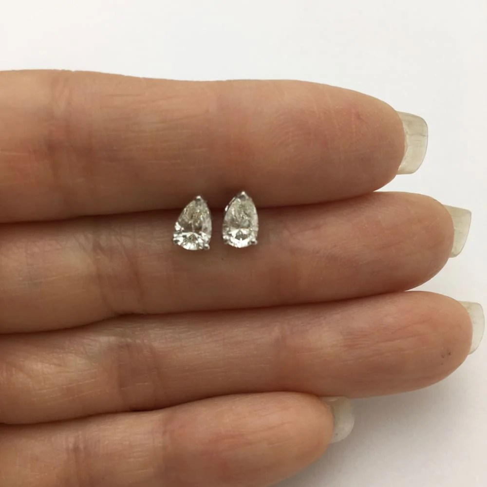 Luxinelle Usa - 1 Carat Diamond Stud Earrings