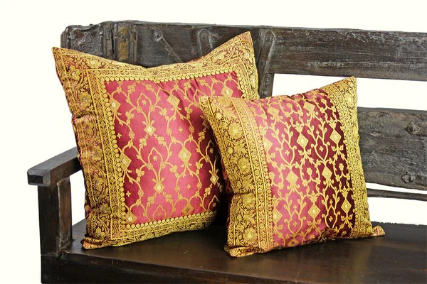 Decorative Indian Sari Pillow Cover  Bedding  SofaTara
