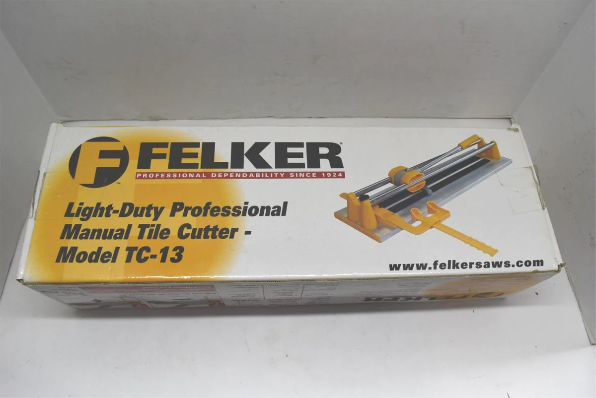 felker light duty professional manual tile cutter model tc 13 new in b fatman s garage
