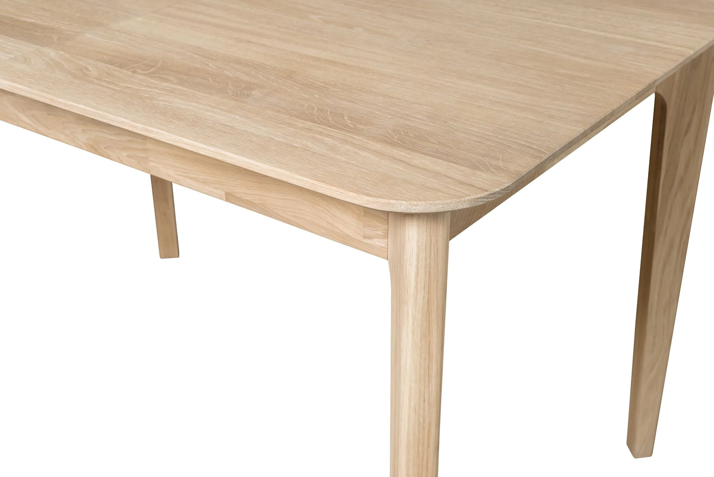 nordicstory extendable solid oak dining table france 120 160 x 80 x 75 cm