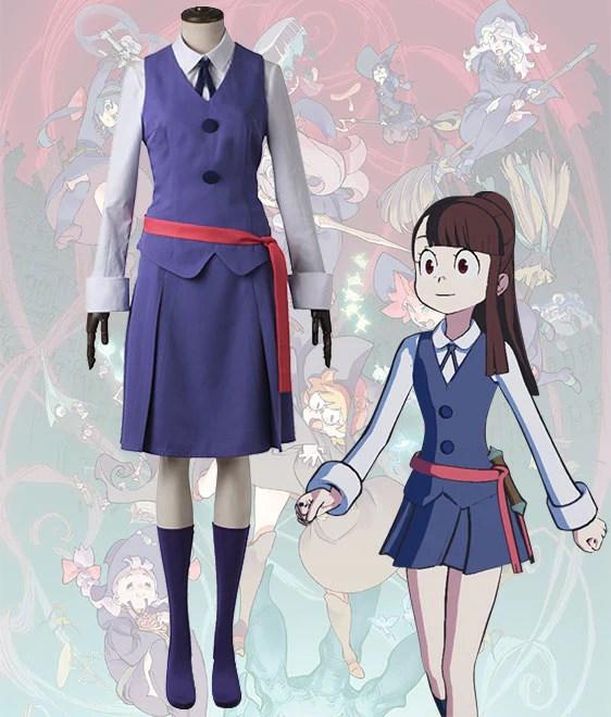 Little Witch Academia Atsuko Kagari Rotte Yanson Sucy Manbavaran Summer School Uniform Cosplay Costume