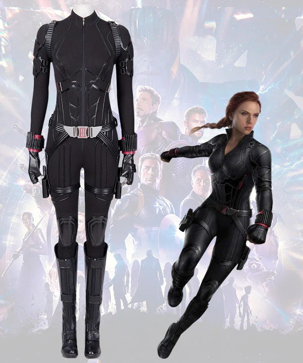 Marvel Avengers 4: Endgame Avengers Black Widow Natasha Romanoff Cosplay Costume
