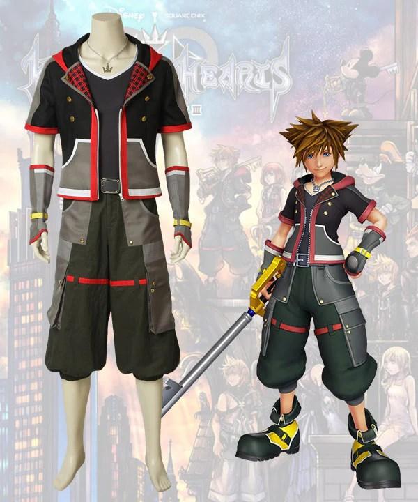 Kingdom Hearts III Kingdom Hearts 3 Sora New Edition Cosplay Costume