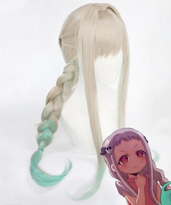 Jibaku Shounen Hanako-Kun Yashiro Nene Silver Green Cosplay Wig