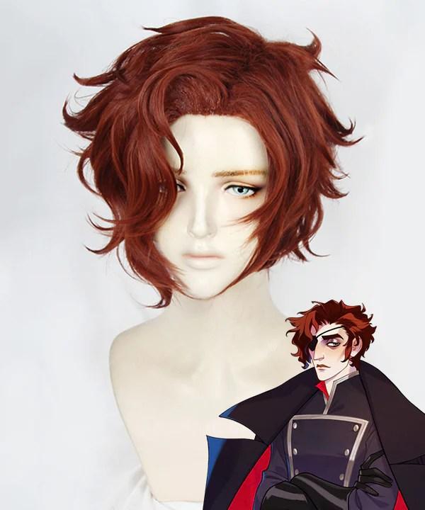 The Arcana Julian Devorak Red Brown Cosplay Wig