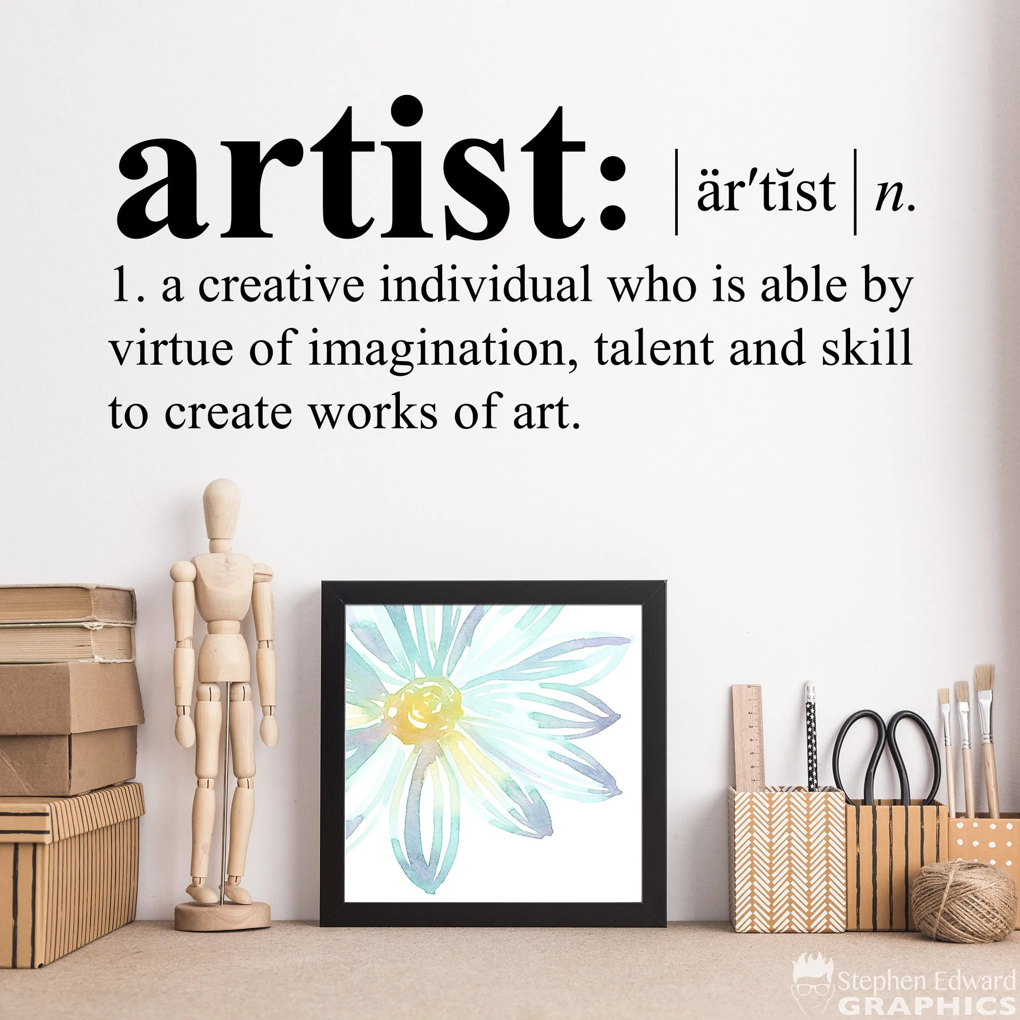 Artist Definition Decal Dictionary Definition Decal Art Studio C Stephen Edward Graphics