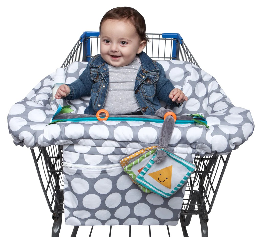 Restaurant High Chair Cover Boppy Luxe Shopping Cart And Restaurant High Chair Cover Gray