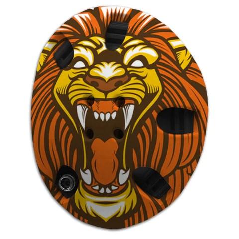 angry lion headgear wrap